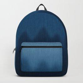Wavy Digital Denim Blue Jean Pattern Backpack