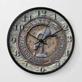 Portland Water Utility cover Wall Clock