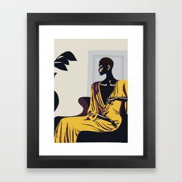 Yellow robe Framed Art Print