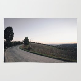 Countryside in tuscany at dusk Rug