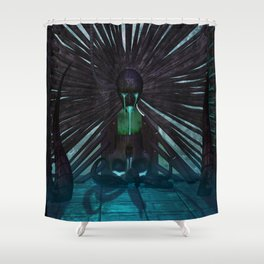 H.R. Giger Tribute - Skull Fountain Shower Curtain