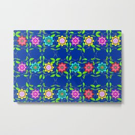 Pretty Flowers in a Row Metal Print