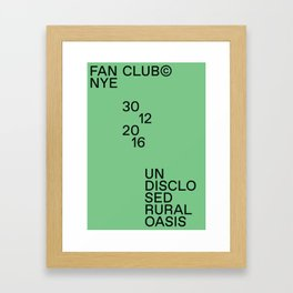 Fan Club© NYE16 Framed Art Print