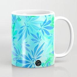 Blue Mint Cannabis Swirl Coffee Mug