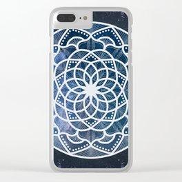 Galaxy Mandala Clear iPhone Case