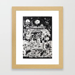 contacto real Framed Art Print