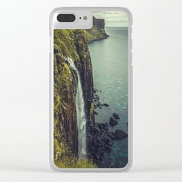 Ocean Waterfall Clear iPhone Case