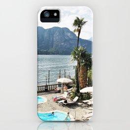 Lake como summers iPhone Case