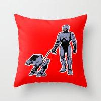 robocop Throw Pillows featuring Robocop by dutyfreak