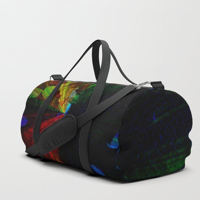fall leaves rainbow effect Duffle Bag