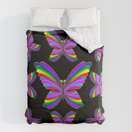 Butterfly Psychedelic Rainbow Comforters
