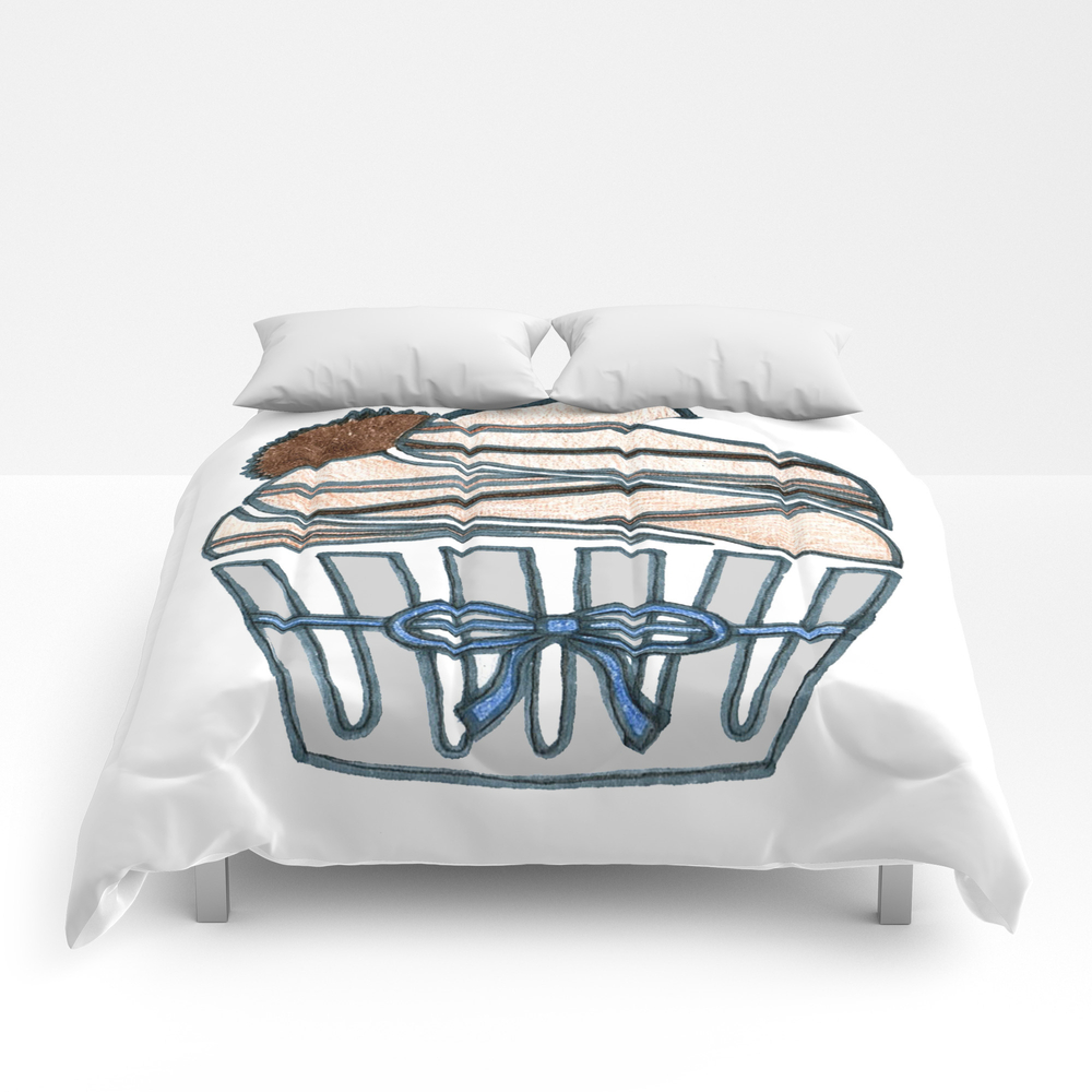Peanut Butter Cup Cupcake Comforter by Designthebranch CMF7823996