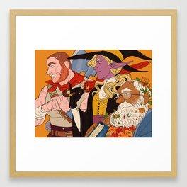 3 horny boyz Framed Art Print