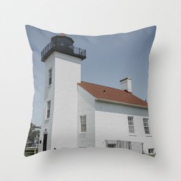 Sand Point Lighthouse in Escanaba, Michigan Throw Pillow