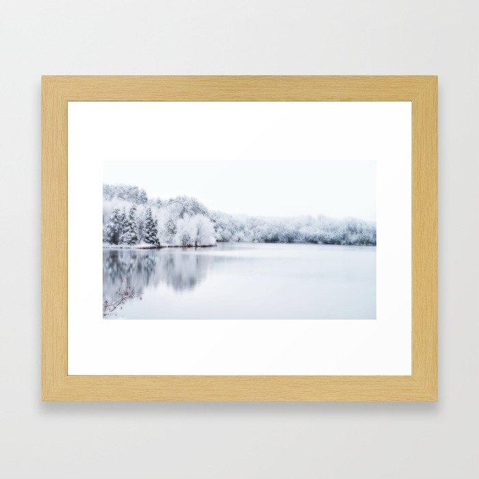 White Wonder Reflection Framed Art Print