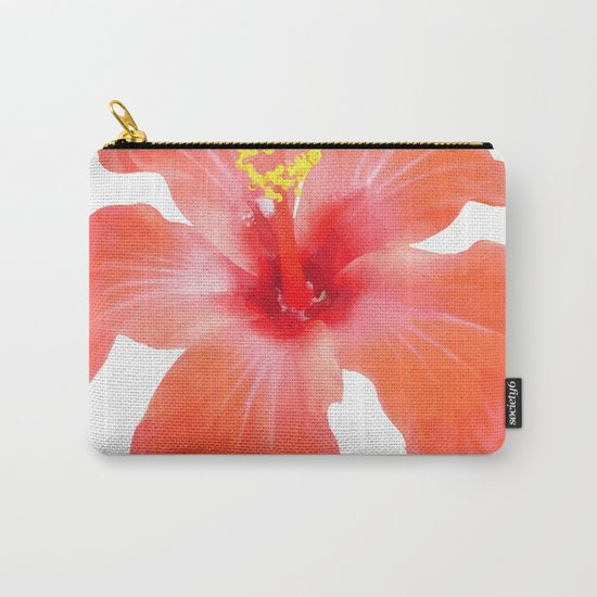 Red Hibiscus Vector Isolated Carry-All Pouch