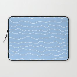 Light Blue (Lighter) with White Squiggly Lines Laptop Sleeve