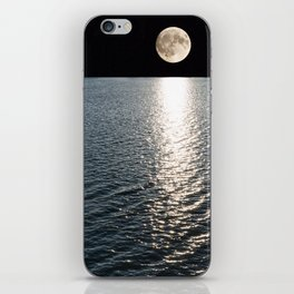 Ocean Moonlight | Moon Photography | Stars and Ocean | Night sky iPhone Skin