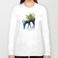 art deco Long Sleeve T-shirts featuring Watering (A Life Into Itself) by Picomodi