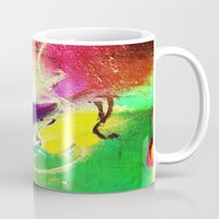 graffiti Mugs featuring Graffiti  by Shannon Curtis