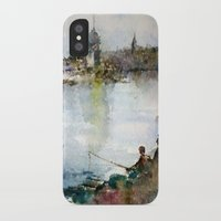 fishing iPhone & iPod Cases featuring Fishing by Baris erdem