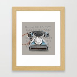 Vintage Telephone Framed Art Print