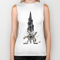 wiz khalifa Biker Tanks featuring Burj Khalifa by sladja