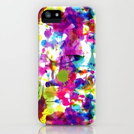 Brightly Colored Paint Splatters iPhone Case