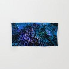 Black Trees Teal Purple Space Hand & Bath Towel