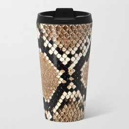 Pastel brown black white snakeskin animal pattern Travel Mug