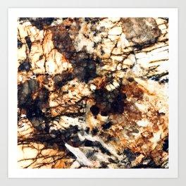 Butterscotch & Chocolate Creme Brûlée Faux Marble Art Print