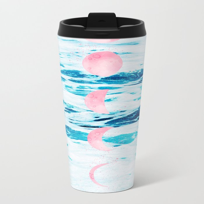Beach Baby, Moon Baby Metal Travel Mug