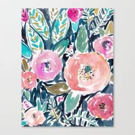 GARDENS OF CAPITOLA Watercolor Floral Canvas Print