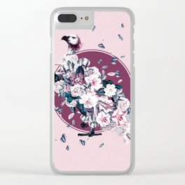Vulture and Floral Clear iPhone Case