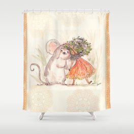 Thumbelina and the Mouse! Shower Curtain
