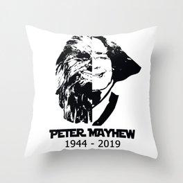 peter mayhew Throw Pillow