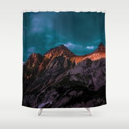 The Volcano Mountain (Color) Shower Curtain