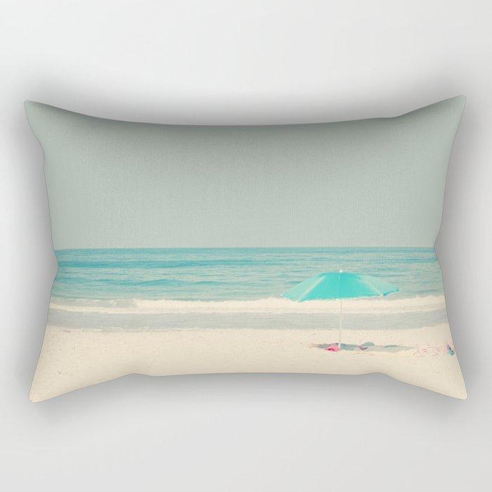 beach umbrella Rectangular Pillow