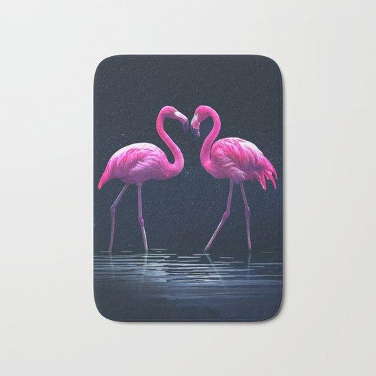 Flamingo love Bath Mat