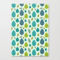 Trees pattern Canvas Print