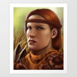 Copper Marigold Art Print
