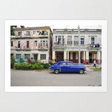 Havana Cuba Cuban Vintage Car Architecture Vedado Urban Street Photography Art Print