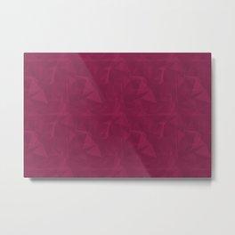 Abstract Polygon Pantone Vivacious 19-2045 Geometrical Low Poly Triangle Pattern 1 Metal Print