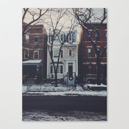 Snowy Chicago Canvas Print