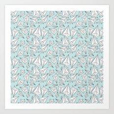 Paper Airplanes Mint Art Print