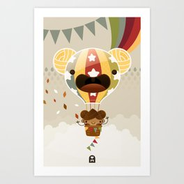 Chestnut Girl Balloon!!! Art Print