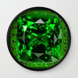 EMERALD GREEN MAY GEM BIRTHSTONE MODERN ART DESIGN Wall Clock