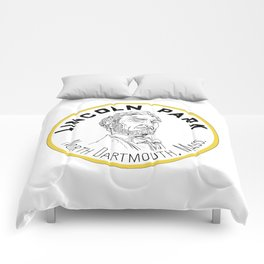 Lincoln Park Round Logo Comforters