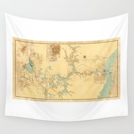 Map of the Proposed Panama Canal (1906) Wall Tapestry