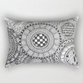 Patterned Circle Collage Rectangular Pillow